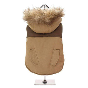 Brown Two Tone Parka Dog Coat - Posh Pawz Fashion
