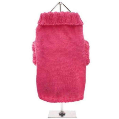 Bruiser's Pink Knitted Dog Jumper - Posh Pawz Fashion