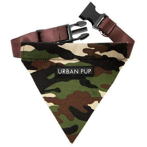 Camouflage Fabric Dog Bandana - Posh Pawz Fashion