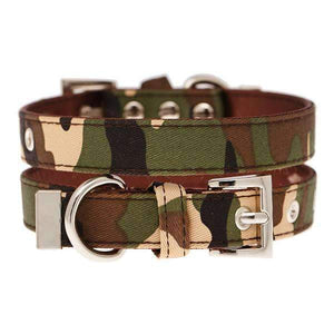 Camouflage Fabric Dog Collar - Posh Pawz Fashion