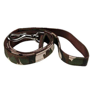 Camouflage Fabric Dog Lead - Posh Pawz Fashion