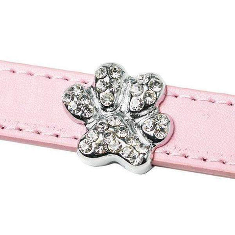 Crystal Paw 18mm Slider Collar Charm - Posh Pawz Fashion
