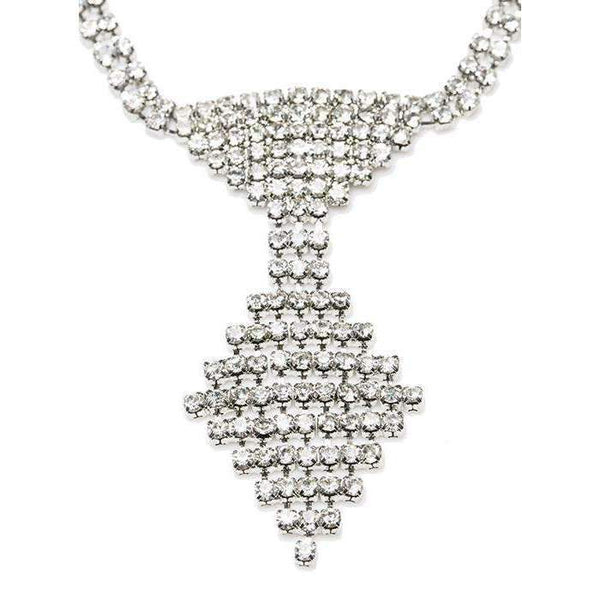 Crystal Tie Dog Necklace - Posh Pawz Fashion
