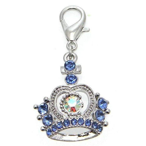Czarina Crystal Crown Dog Collar Charm - Posh Pawz Fashion