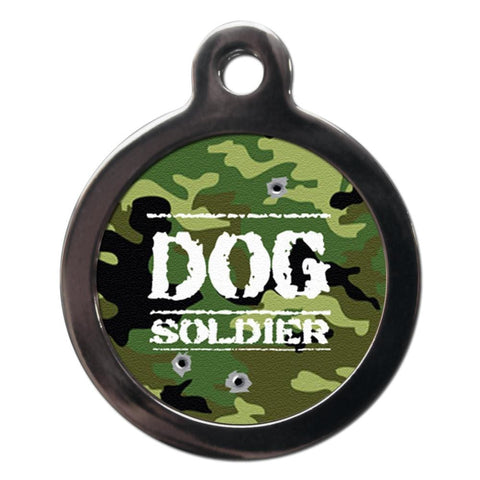 Dog Soldier Camouflage Dog ID Tag - Posh Pawz Fashion