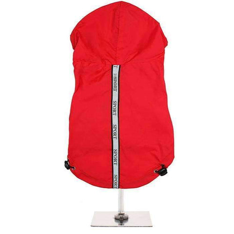 Explorer Windbreaker Sport Dog Raincoat In Red - Posh Pawz Fashion