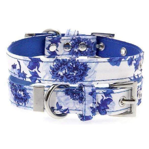 Floral Bouquet Fabric Dog Collar - Posh Pawz Fashion