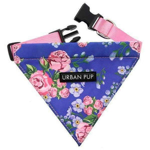 Floral Burst Fabric Dog Bandana - Posh Pawz Fashion