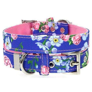 Floral Burst Fabric Dog Collar - Posh Pawz Fashion