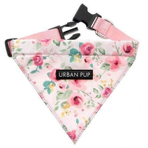 Floral Cascade Fabric Dog Bandana - Posh Pawz Fashion