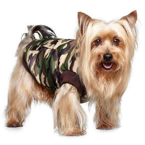 Camouflage Bodywarmer Dog Coat - Posh Pawz Fashion
