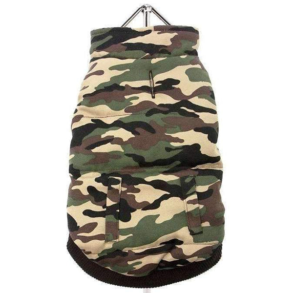 Forest Camouflage Bodywarmer Dog Coat - Posh Pawz Fashion