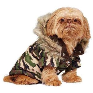 Urban Pup Camouflage Parka Dog Coat - Posh Pawz Fashion