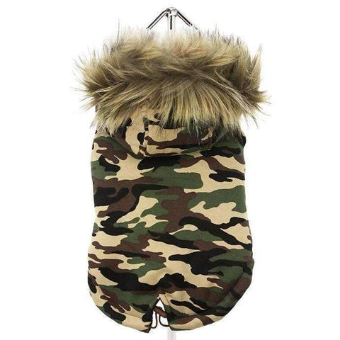 Forest Camouflage Fish Tail Parka Dog Coat - Posh Pawz Fashion