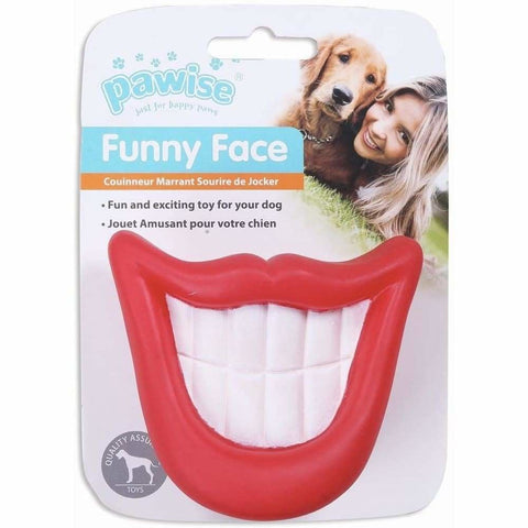 Funny Face Big Teeth Squeaky Dog Toy - Posh Pawz - 1