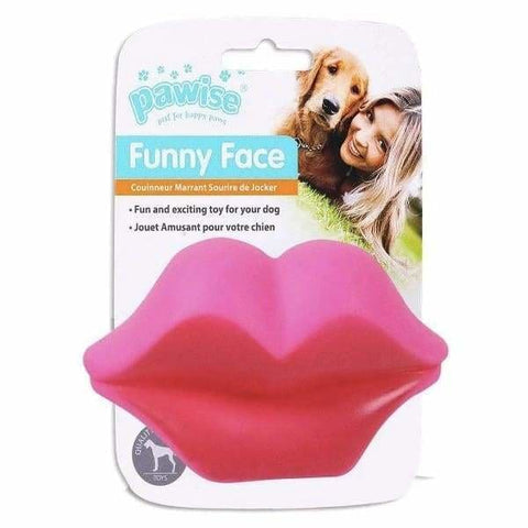 Funny Face Lips Squeaky Dog Toy - Posh Pawz - 1