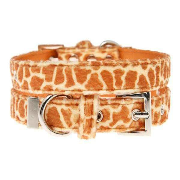 Giraffe Print Fabric Dog Collar - Posh Pawz Fashion