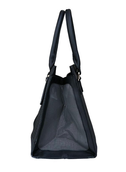 Grace Black Designer Dog Carrier - Posh Pawz Fashion