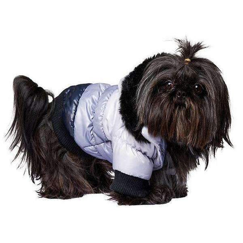 Urban Pup Grey And Black Thermo Quilted Dog Coat Large - Posh Pawz Fashion