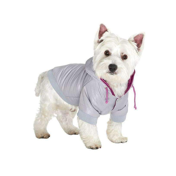 Grey Pathfinder Insulated Panel Dog Coat - Posh Pawz Fashion