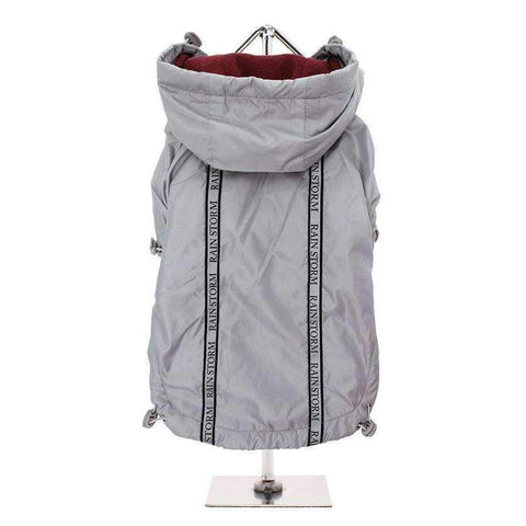 Grey Rainstorm Dog Raincoat - Posh Pawz Fashion