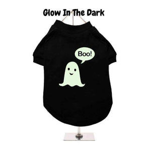 Halloween Boo! Ghost Dog T Shirt Black - Posh Pawz Fashion
