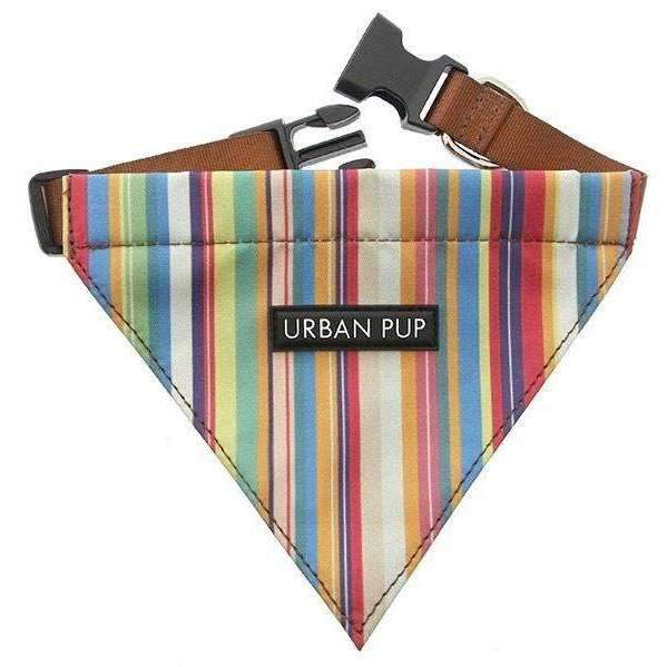 Henley Striped Fabric Dog Bandana - Posh Pawz Fashion
