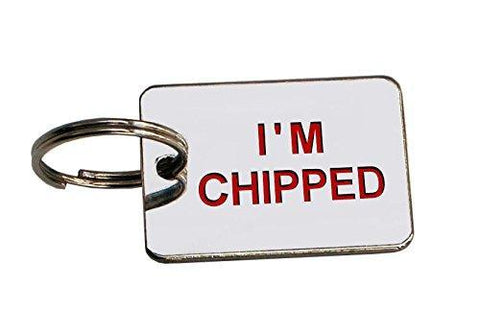 I'm Chipped Pet ID Tag - Posh Pawz Fashion