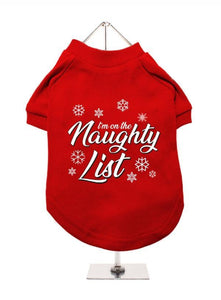 Im On The Naughty List Dog T-Shirt - Posh Pawz Fashion