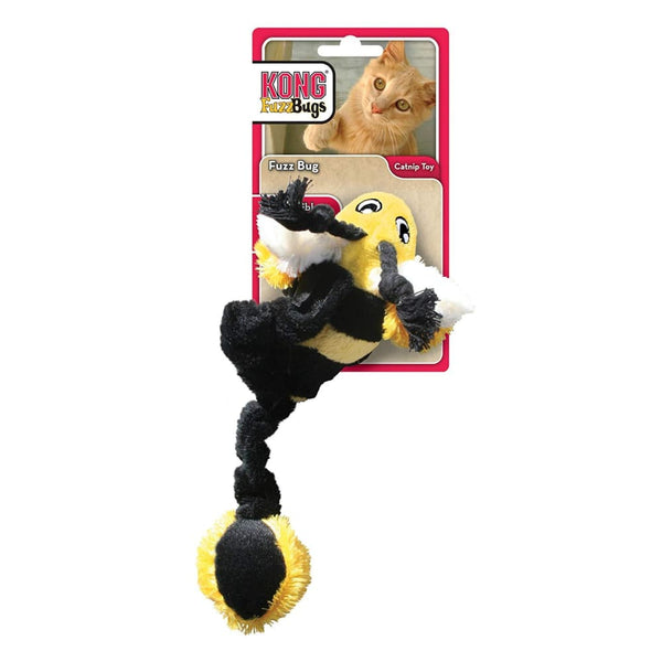 Kong Hugga Fuzz Bug Cat Toy - Bumble Bee - Posh Pawz Fashion