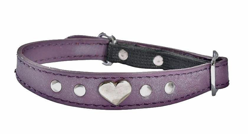 Leather Amour Cat Collar In Purple - Posh Pawz Fashion