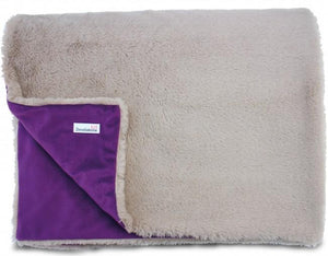 Luxury Faux Fur Dog Blanket - Purple - Posh Pawz Fashion