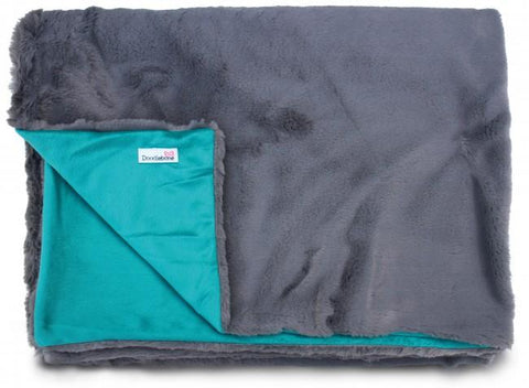 Luxury Faux Fur Dog Blanket - Teal Green - Posh Pawz Fashion