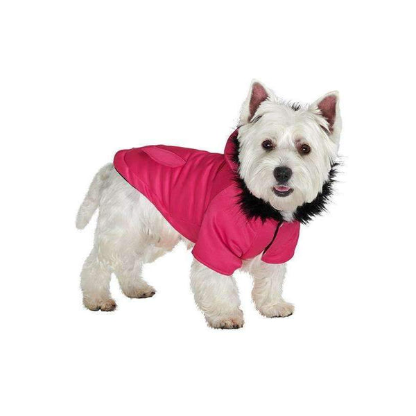 Mod Fishtail Parka Dog Coat Hot Pink - Posh Pawz Fashion