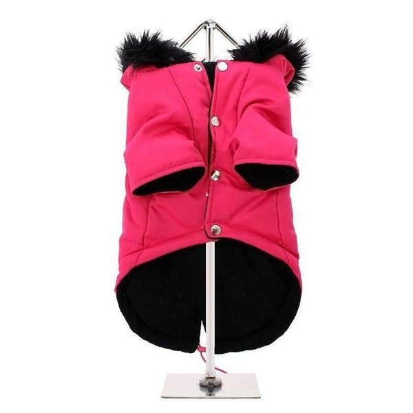 Urban Pup Mod Fishtail Parka Dog Coat Hot Pink XSmall - Posh Pawz Fashion