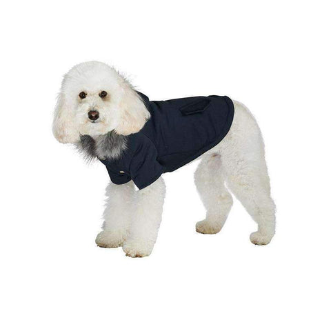 Black Mod Fishtail Parka Dog Coat - Posh Pawz Fashion