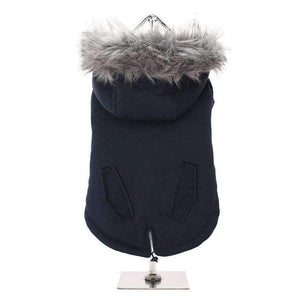 Mod Fishtail Parka Dog Coat Ink Black - Posh Pawz Fashion