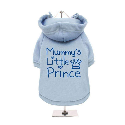 Mummy's Little Prince Dog Hoodie Sweatshirt - Blue - Posh Pawz Fashion
