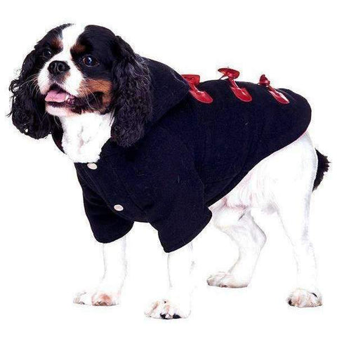 Navy Blue Duffle Dog Coat - Posh Pawz Fashion
