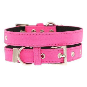 Neon Pink Fabric Dog Collar - Posh Pawz Fashion