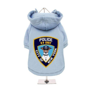 NYPD K9 Unit Dog Hoodie Sweatshirt-Posh Pawz Fashion