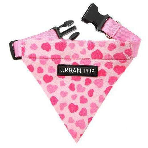 Pink Hearts Fabric Dog Bandana - Posh Pawz Fashion
