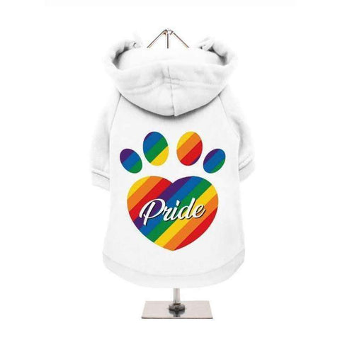Pride Dog Hoodie Sweatshirt In White - Posh Pawz Fashion