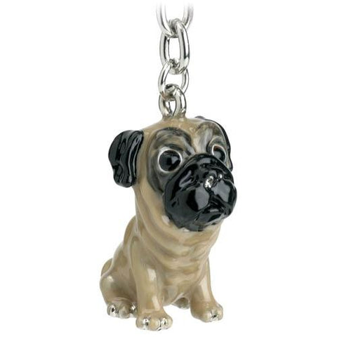 Pug Little Paws Keyring Handbag Charm - Posh Pawz Fashion