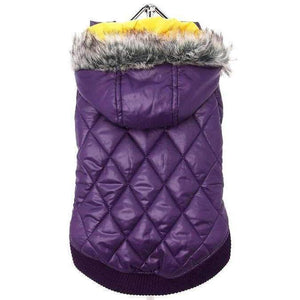 Purple Thermo Quilted Dog Coat - Posh Pawz Fashion