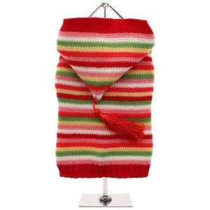 Rainbow Dog Jumper With Hood - Posh Pawz Fashion