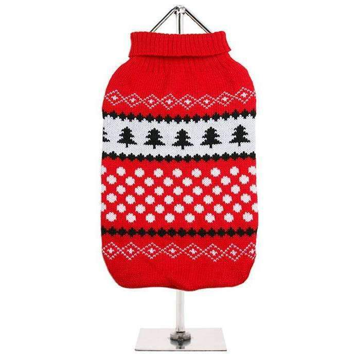 Red and White Snowball Dog Jumper - Posh Pawz Fashion