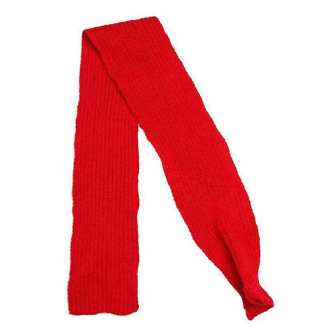 Red Knitted Dog Scarf - Posh Pawz Fashion