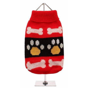Red Paws Dog Jumper - Posh Pawz Fashion