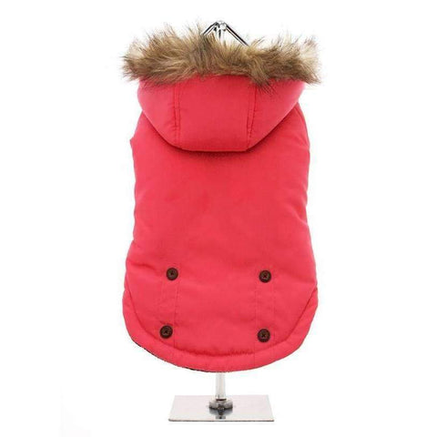 Salmon Pink Alpine Dog Coat - Posh Pawz Fashion